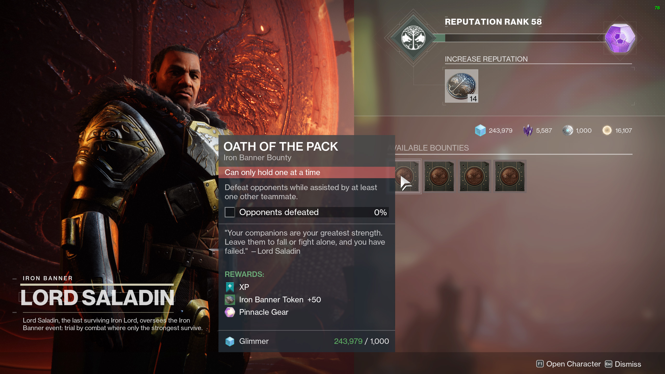Destiny 2 Iron Banners Season 13 Bounties
